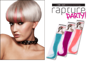 rapture party hair extensions, newport pagnell
