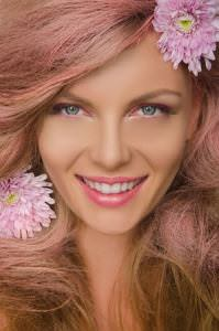 rose-gold hair colour, zigzag hair studios in milton keynes