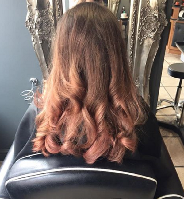 Rose Gold Hair Colour Trend