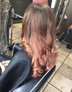 rose-gold-hair-colours at zigzag hair salons in milton keynes, towcester, newport pagnell, westcroft