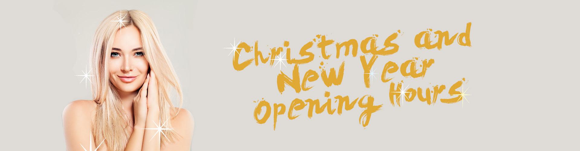 Christmas and New Year Opening Hours, Hair Salon, Milton Keynes, Newport, Blonde Envy Hair Salons