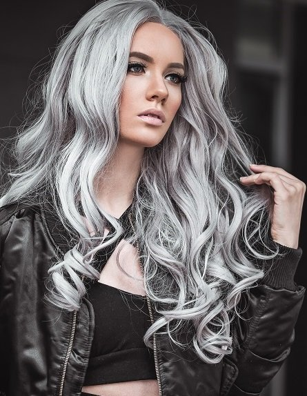 Platinum Blonde & Silver Grey Hair Colour