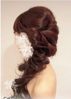 side plait for wedding hair
